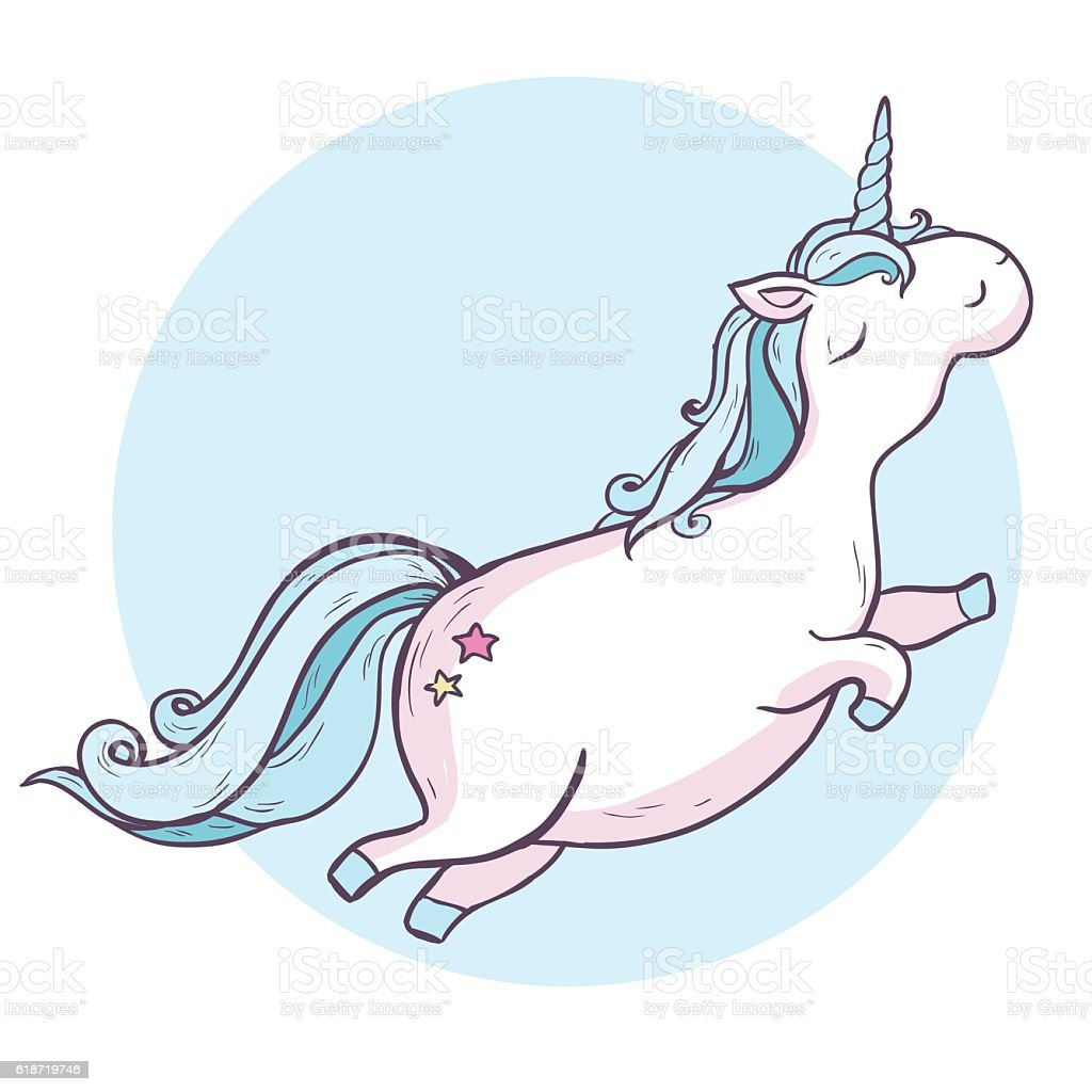 cartoon magic unicorn stock vector art 618719746 istock