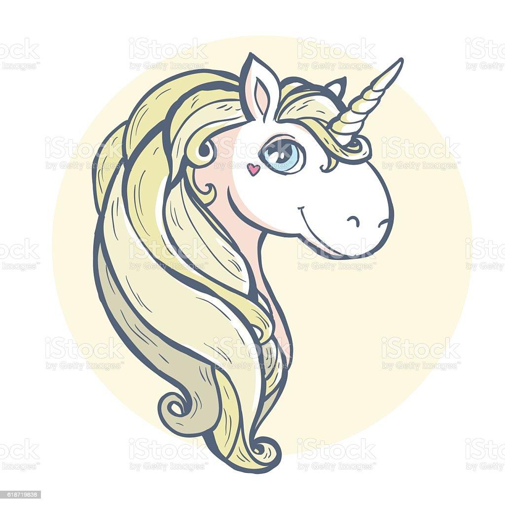 cartoon magic unicorn stock vector art 618719838 istock