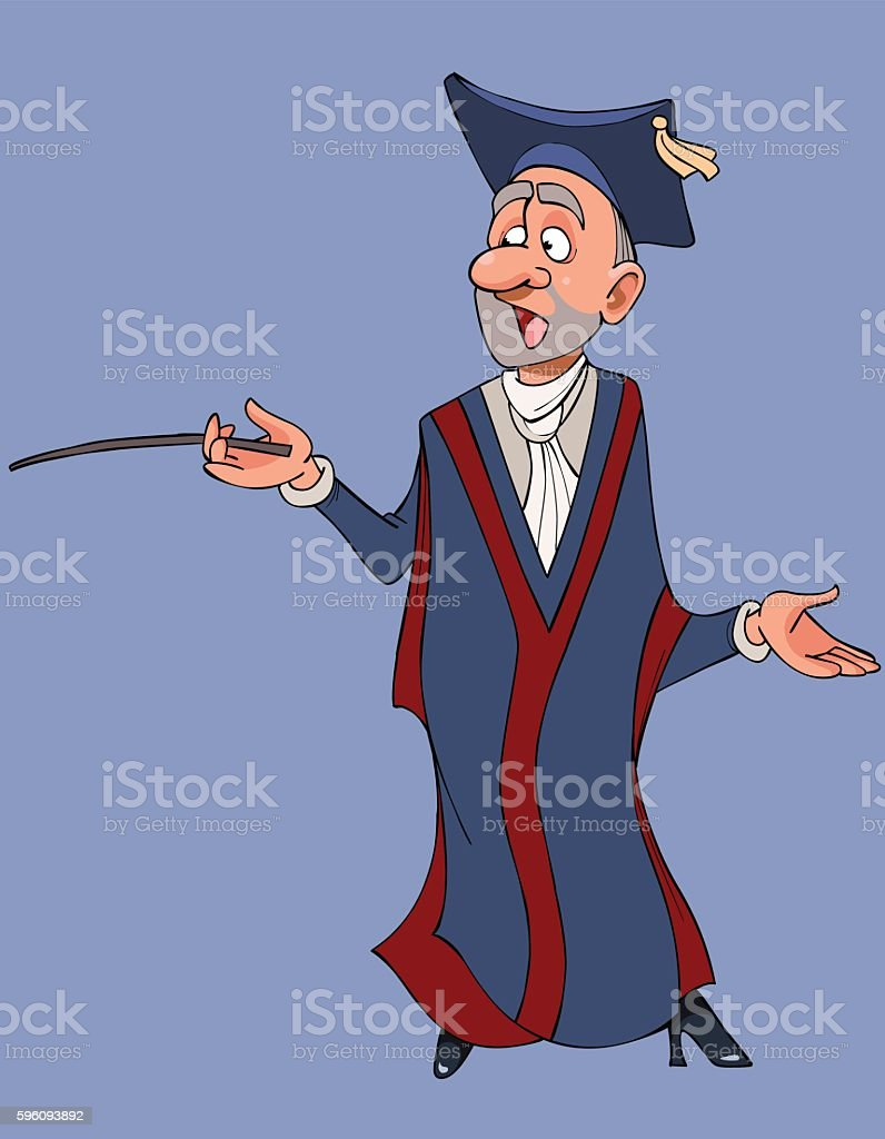 cartoon male teacher in gown and hat royalty-free cartoon male teacher in gown and hat stock vector art & more images of business