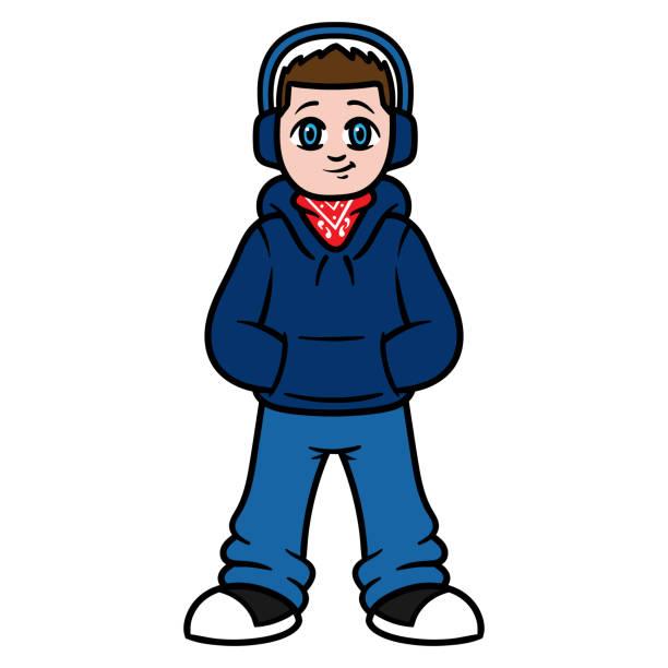 illustrazioni stock, clip art, cartoni animati e icone di tendenza di cartoon male teenager - compagni scuola