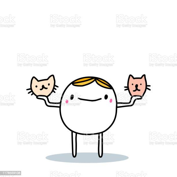 Cartoon man choosing between cat and dog domestic pet hand drawn vector id1178559108?b=1&k=6&m=1178559108&s=612x612&h=lxcnpi8krzrvq27dnyiyxjs8ctxkqr08opank813z q=