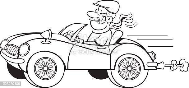 cartoon man driving a sports car stock vector art  u0026 more
