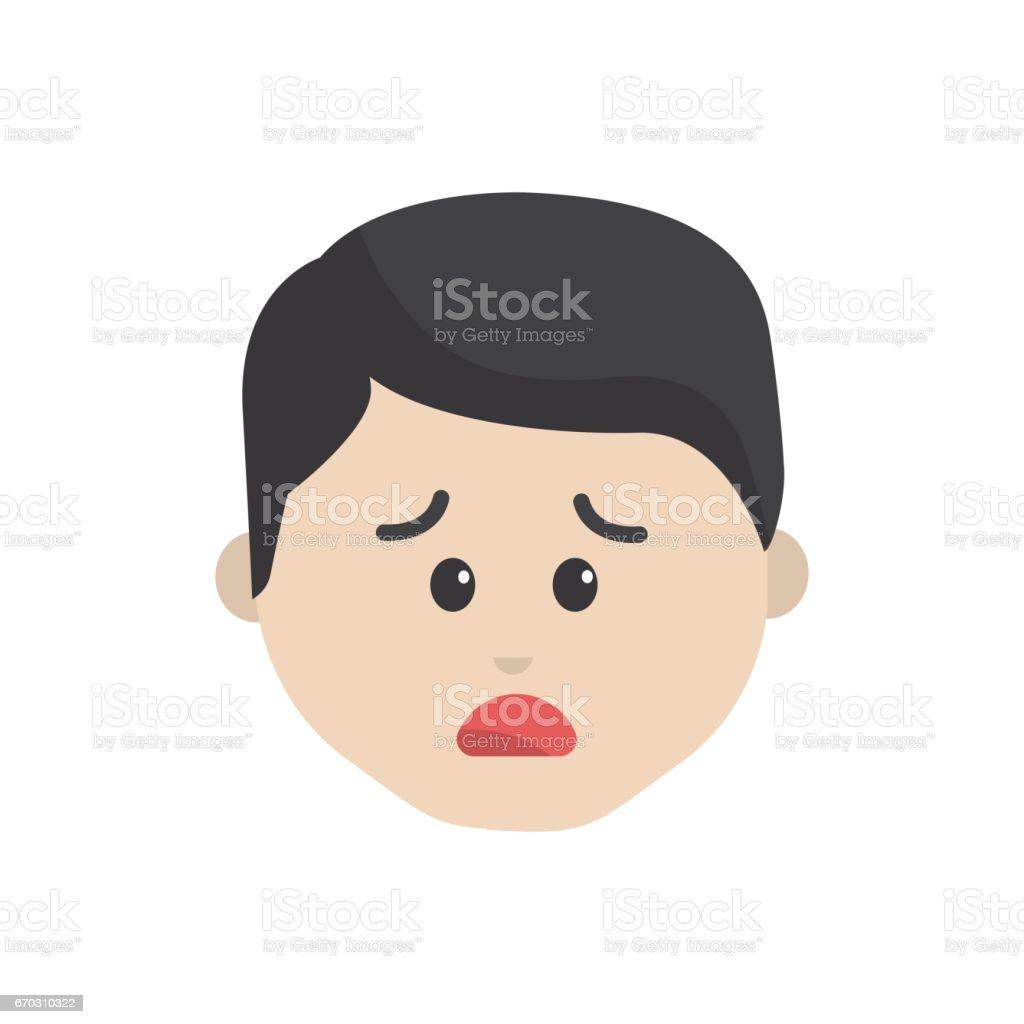 Vetores De Desenho Animado Homem Rosto Triste Expressao E Mais