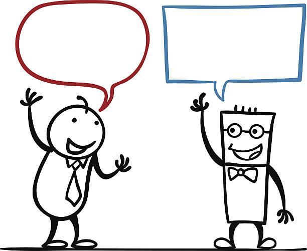 Homme en dessin animé de discussion - Illustration vectorielle