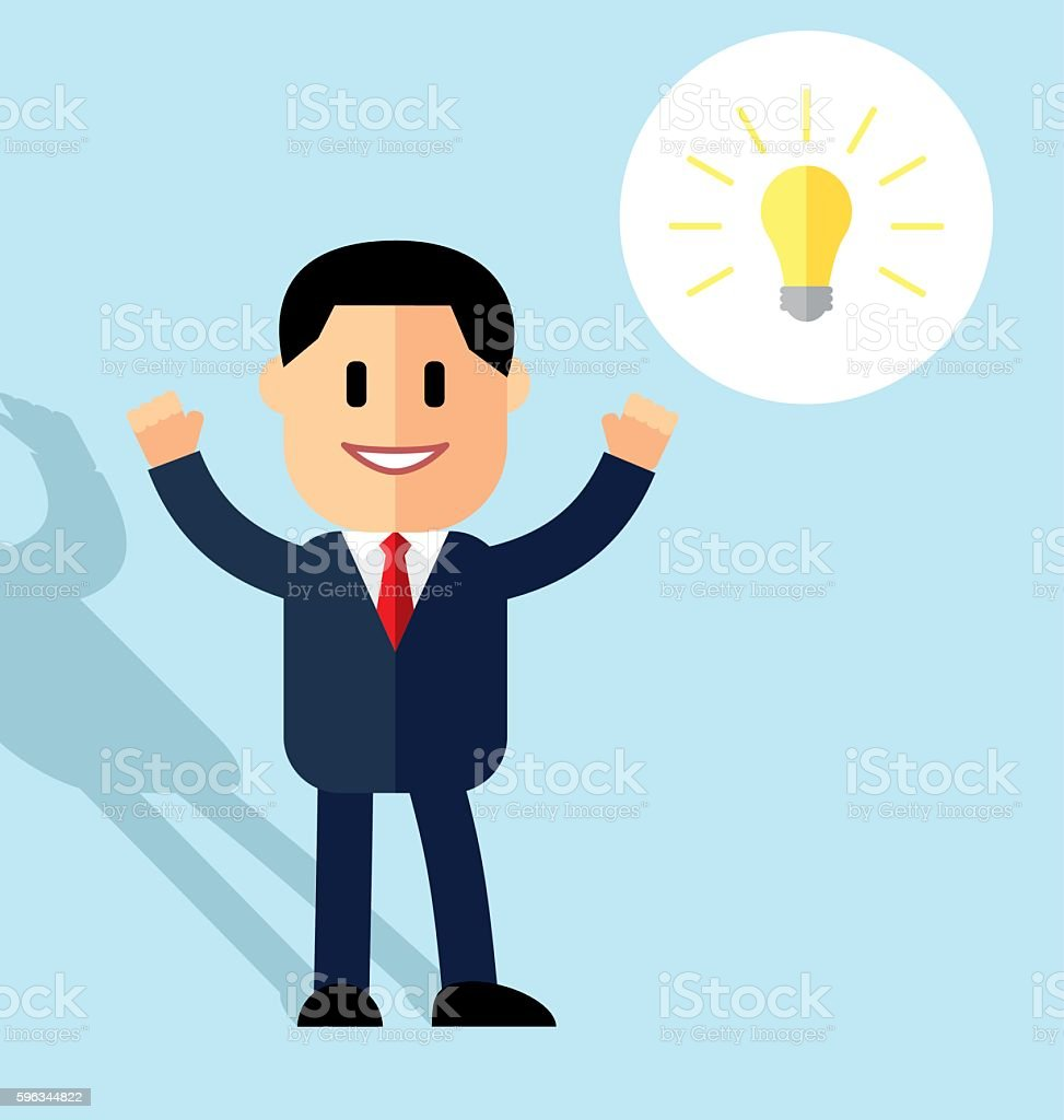Cartoon man in suit. Concept idea. royalty-free cartoon man in suit concept idea stock vector art & more images of achievement