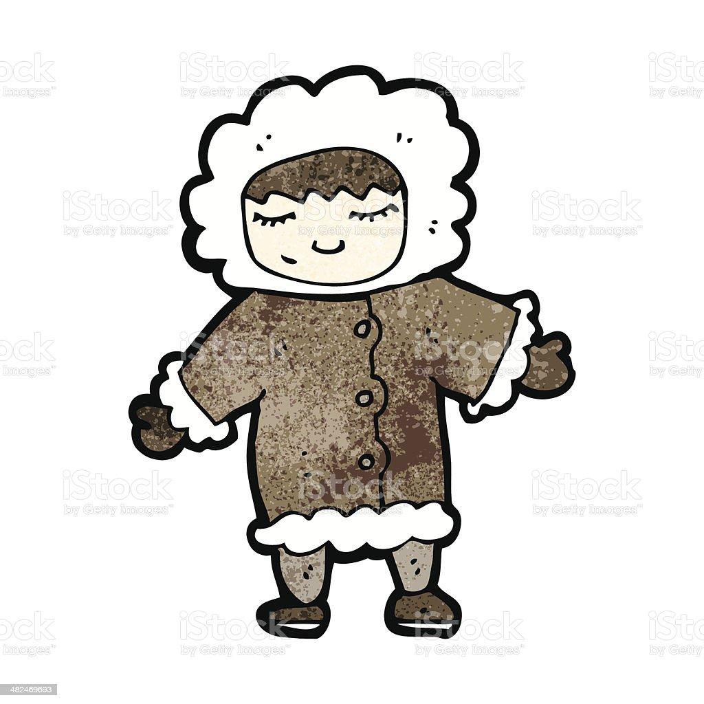 Homme en dessin anim en hiver manteau de fourrure - Dessin de manteau ...