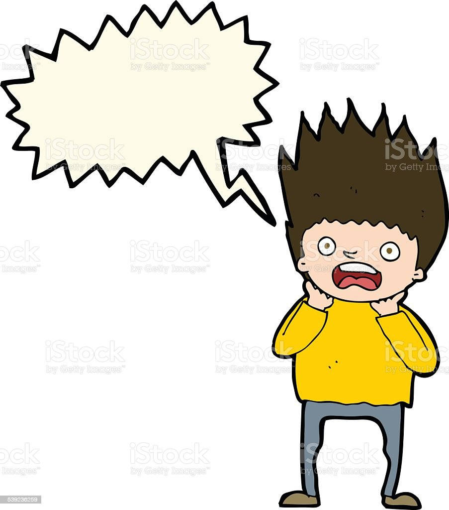 cartoon man panicking with speech bubble royalty-free cartoon man panicking with speech bubble stock vector art & more images of adult