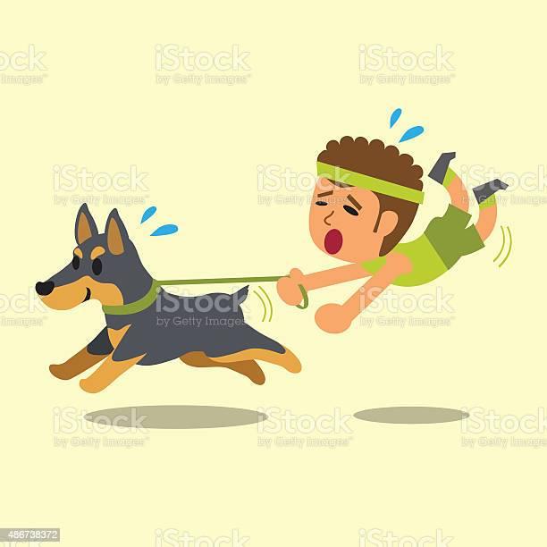 Cartoon man pulled by his doberman dog vector id486738372?b=1&k=6&m=486738372&s=612x612&h=zrfxoqh8tj7x julrx8la3x6jzzby jcdtnkxkcvlua=