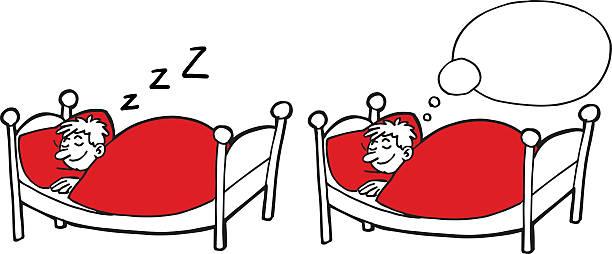 Cartoon man sleeping – Vektorgrafik
