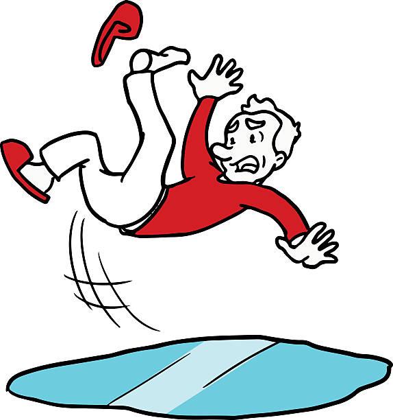 Cartoon man slipping and falling – Vektorgrafik