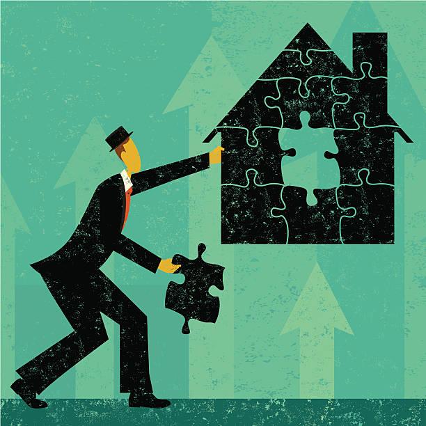 ホーム住宅問題の解決 ベクターアートイラスト