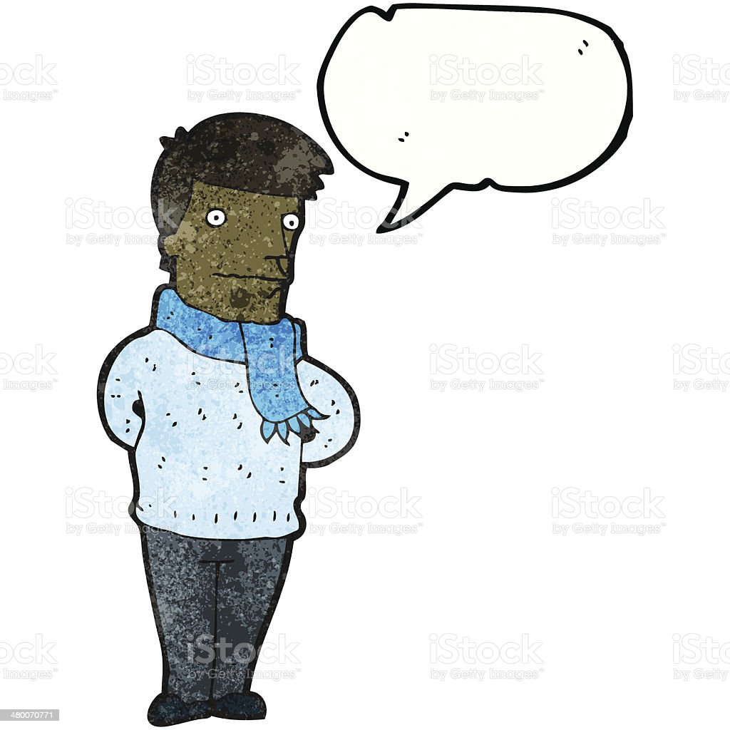 cartoon man talking royalty-free stock vector art