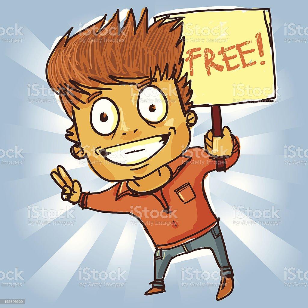 カットイラスト男性無料のサイン のイラスト素材 165726600 | istock