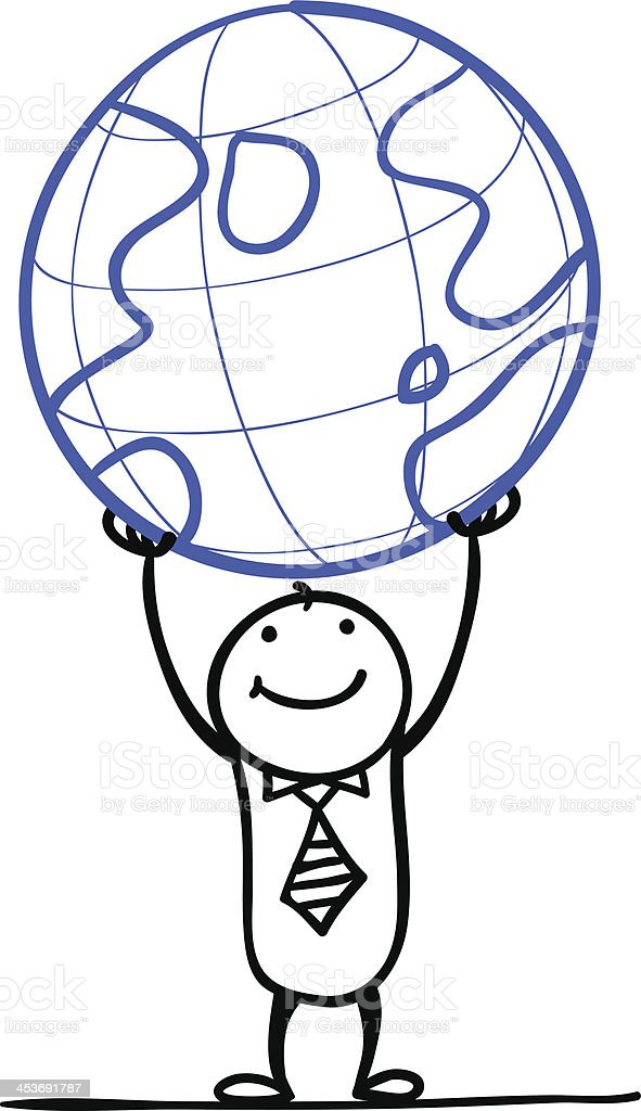 Cartoon man with the world royalty-free cartoon man with the world stock vector art & more images of adult