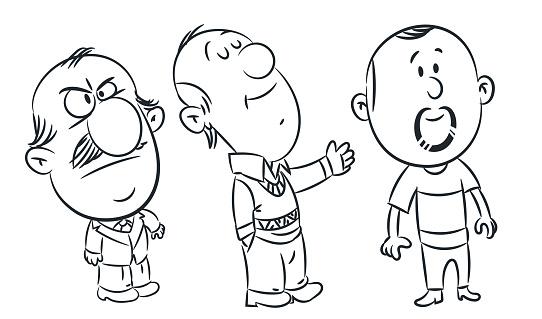 Vector Cartoon Mans