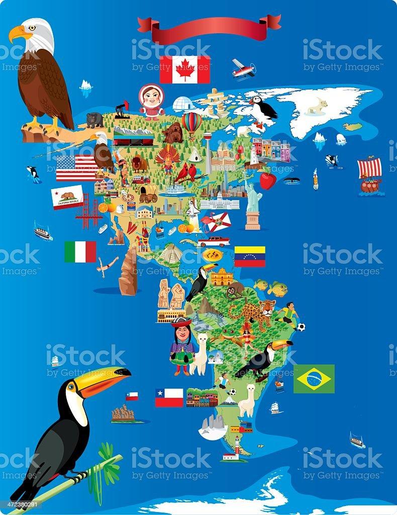 Cartoon Karte Von Amerika Stock Vektor Art und mehr Bilder von ...