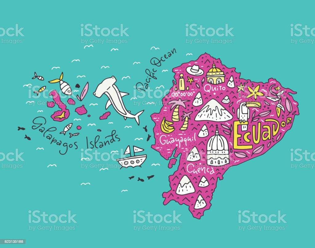 map of ecuador clipart choice image