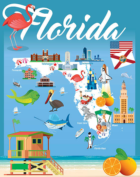 Vector Key Illustration: Best Key West Florida Illustrations, Royalty-Free Vector