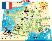 Cartoon map of France