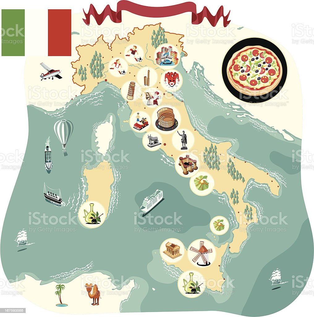 Cartoon map of Italy royalty-free cartoon map of italy stock vector art & more images of cartoon