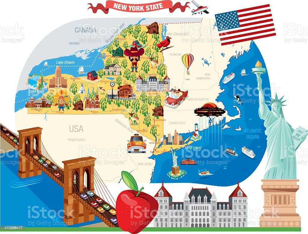 Conhecido Dibujo Mapa De Nueva York - Arte vectorial de stock y más imágenes  ME36
