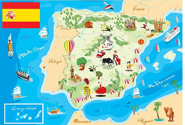 ilustrações de stock, clip art, desenhos animados e ícones de mulher mapa de espanha - ibiza