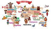 Cartoon Map of WORLD I have used  http://legacy.lib.utexas.edu/maps/world_maps/world_physical_2015.pdf
