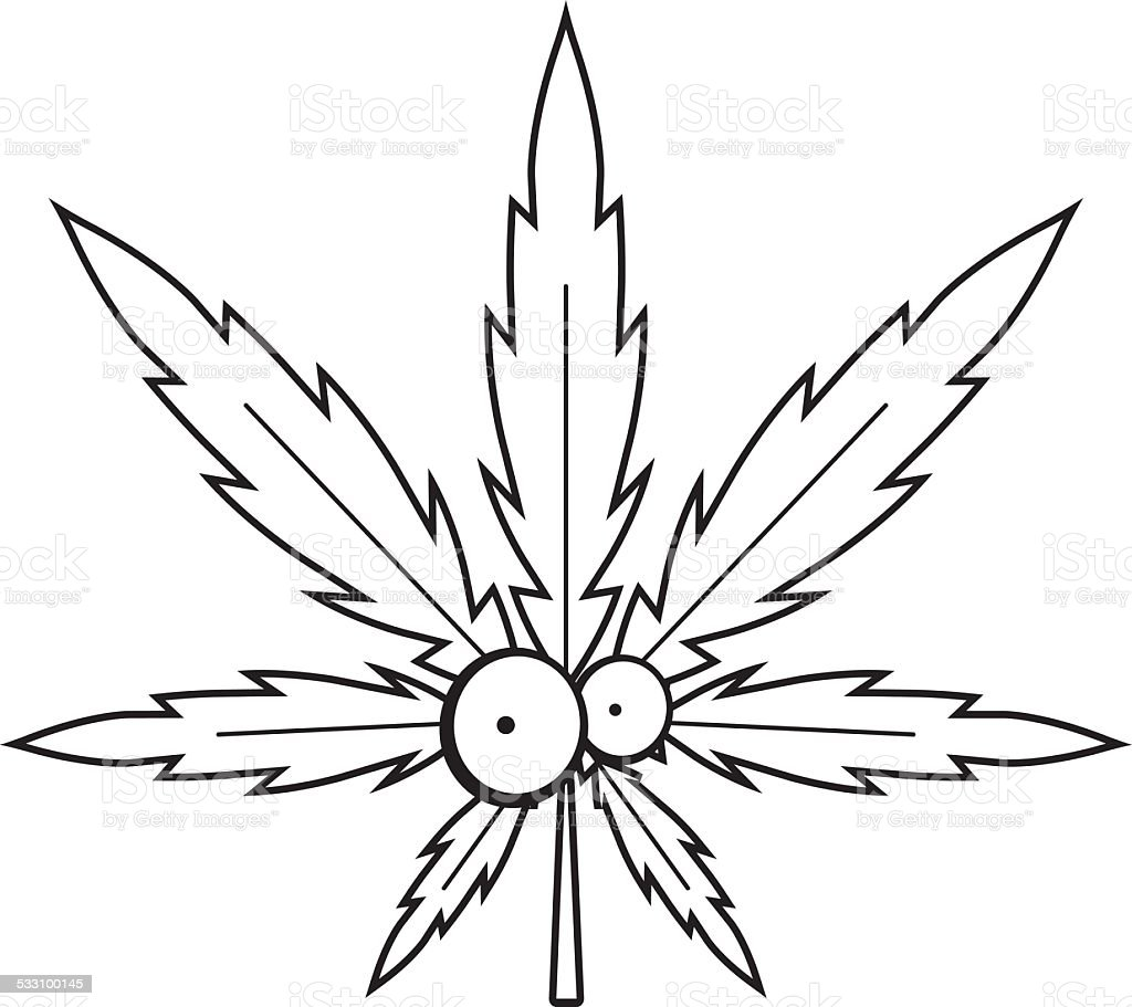 Dessin Anime De Feuille De Cannabis Cliparts Vectoriels Et Plus D