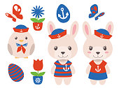 Cute easter illustrations