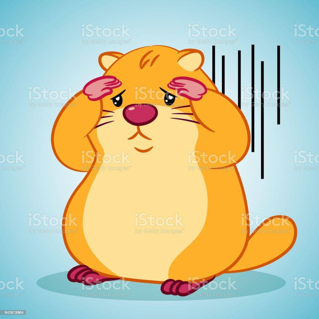 Cartoon Marmot for Happy Groundhog Day vector art illustration