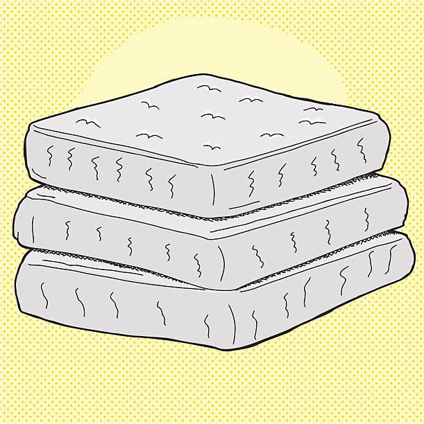 comic-matratzen - stapelbett stock-grafiken, -clipart, -cartoons und -symbole