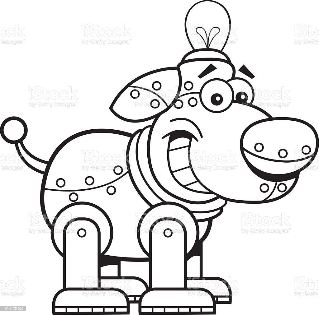 Ilustración de Perro De Dibujos Animados Mecánico y más banco de ...