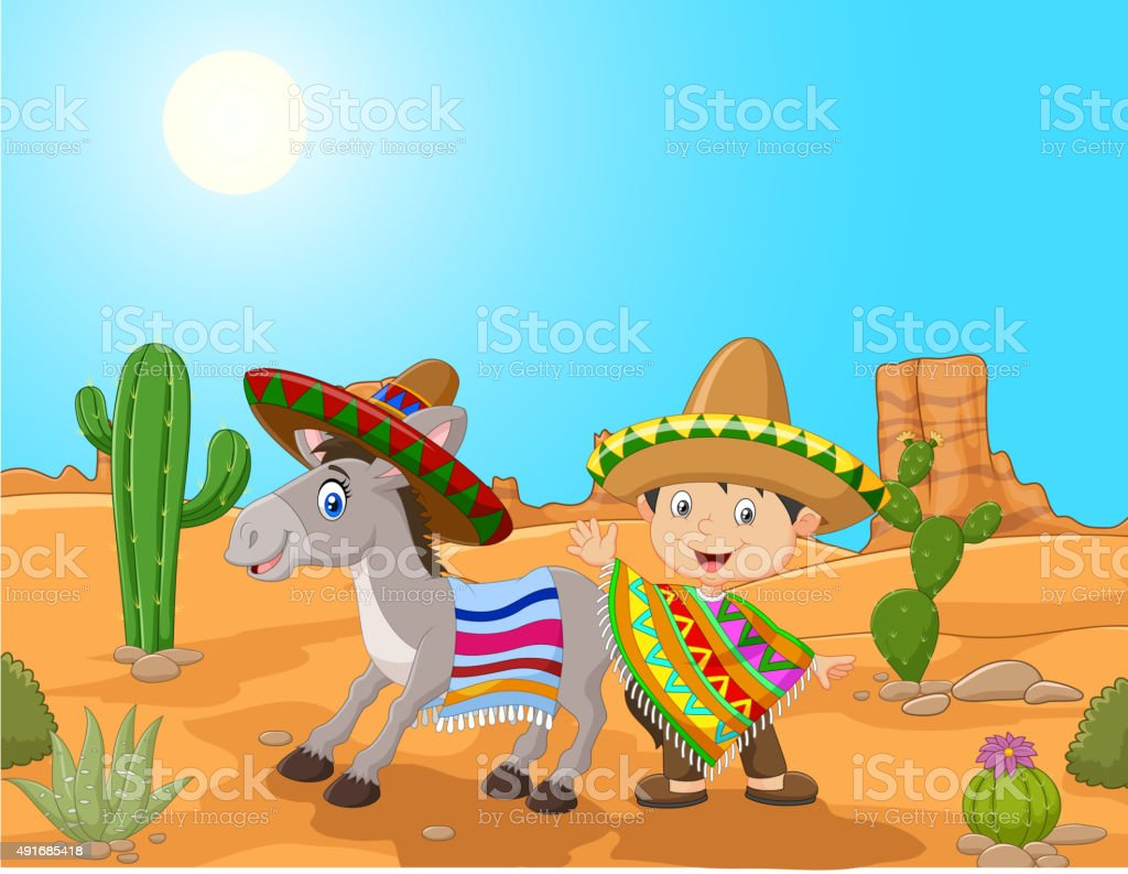 mexikanische Mädchen Esel