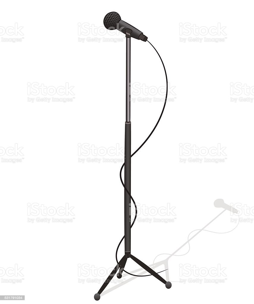 royalty free mic stand clip art vector images illustrations istock rh istockphoto com mic clipart black and white mic clipart png