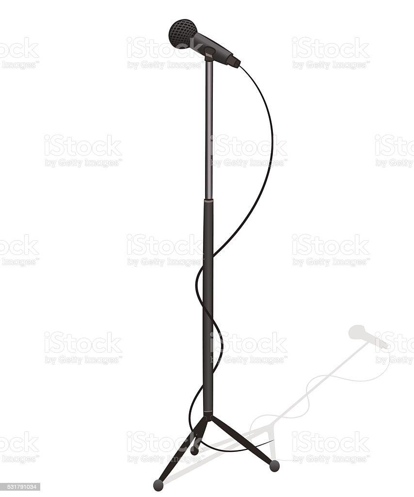royalty free mic stand clip art vector images illustrations istock rh istockphoto com mic drop clip art radio mic clip art