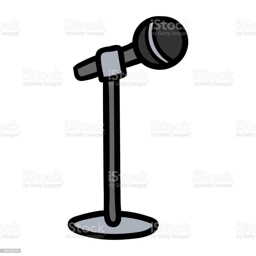 how to draw a microphone stand