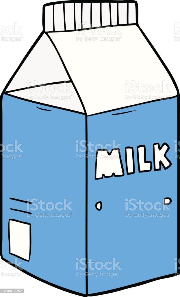 cartoon milk carton stock vector art more images of art 816317252 rh istockphoto com open milk carton cartoon milk carton cartoon vector