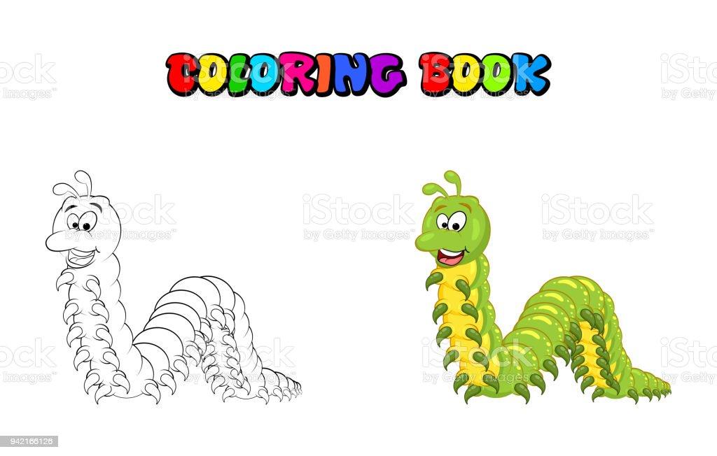 Ilustración de Personaje De Milpiés De Dibujos Animados Para ...