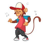 Cartoon monkey dancing