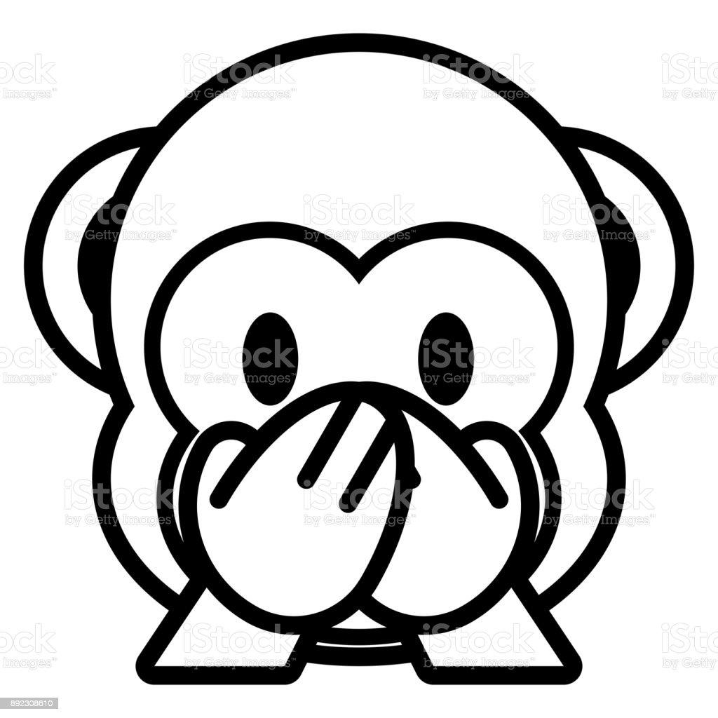 dessin anim singe emoji isole on white background dessin anim singe emoji isole on white background - Dessin Emoji