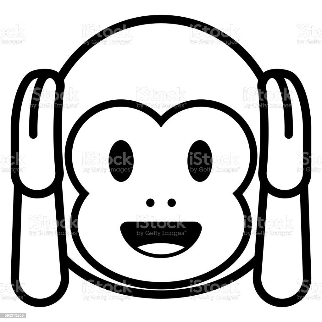 how to draw a monkey emoji