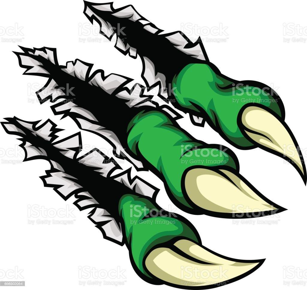 Cartoon Monster Claw Hole vector art illustration