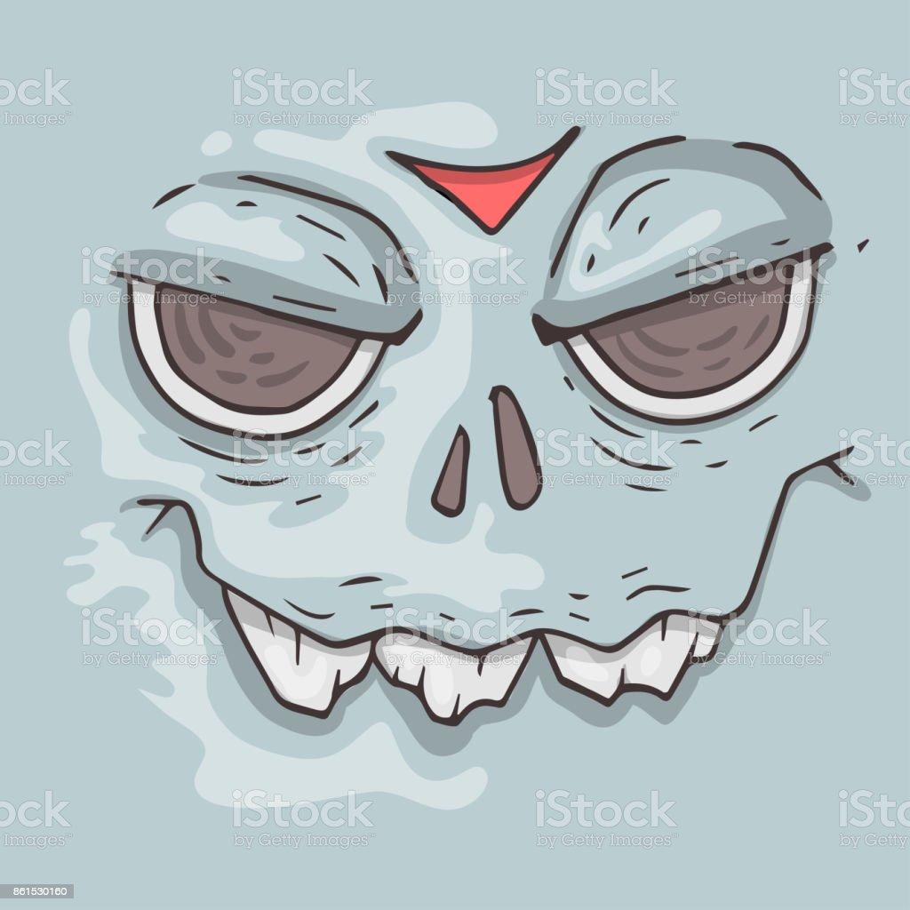 Dessin Visage Halloween.Cartoon Monster Face Halloween Illustration Stock Illustration Download Image Now Istock