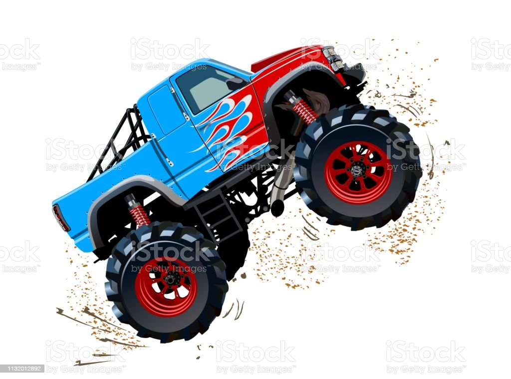 Cartoon Monster Truck Isolated On White Background Stock Illustration Download Image Now Istock