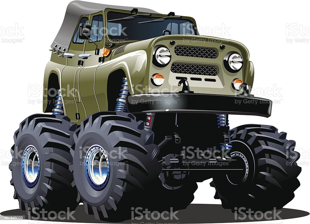 Cartoon Monster Truck. Available EPS-10 separated by groups and...