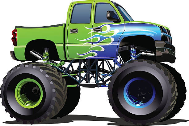 Best Cartoon Of The Custom Pickup Trucks Illustrations ...