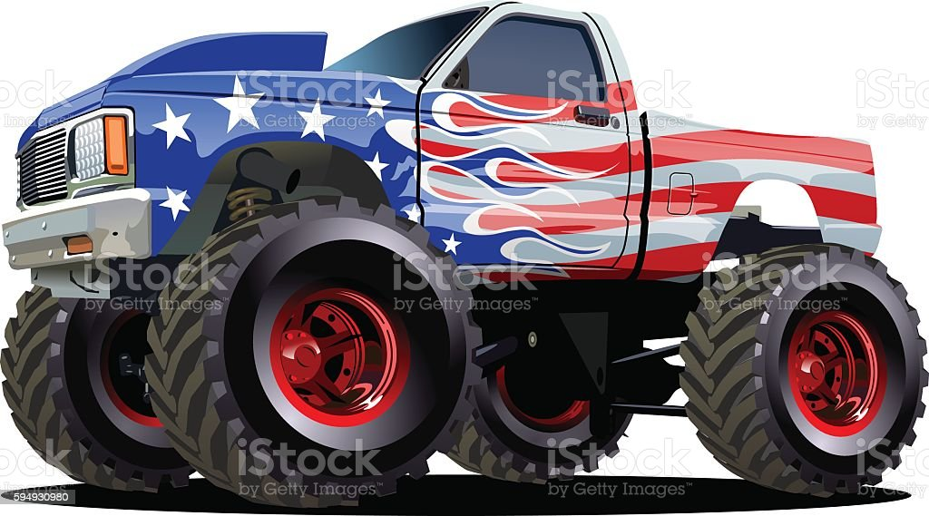 Cartoon Monster Truck Stock Illustration Download Image Now Istock