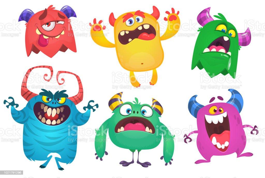 Cartoon Monsters Characters Set Halloween Design Various Monsters Vector Illustration Stock Illustration Download Image Now Istock