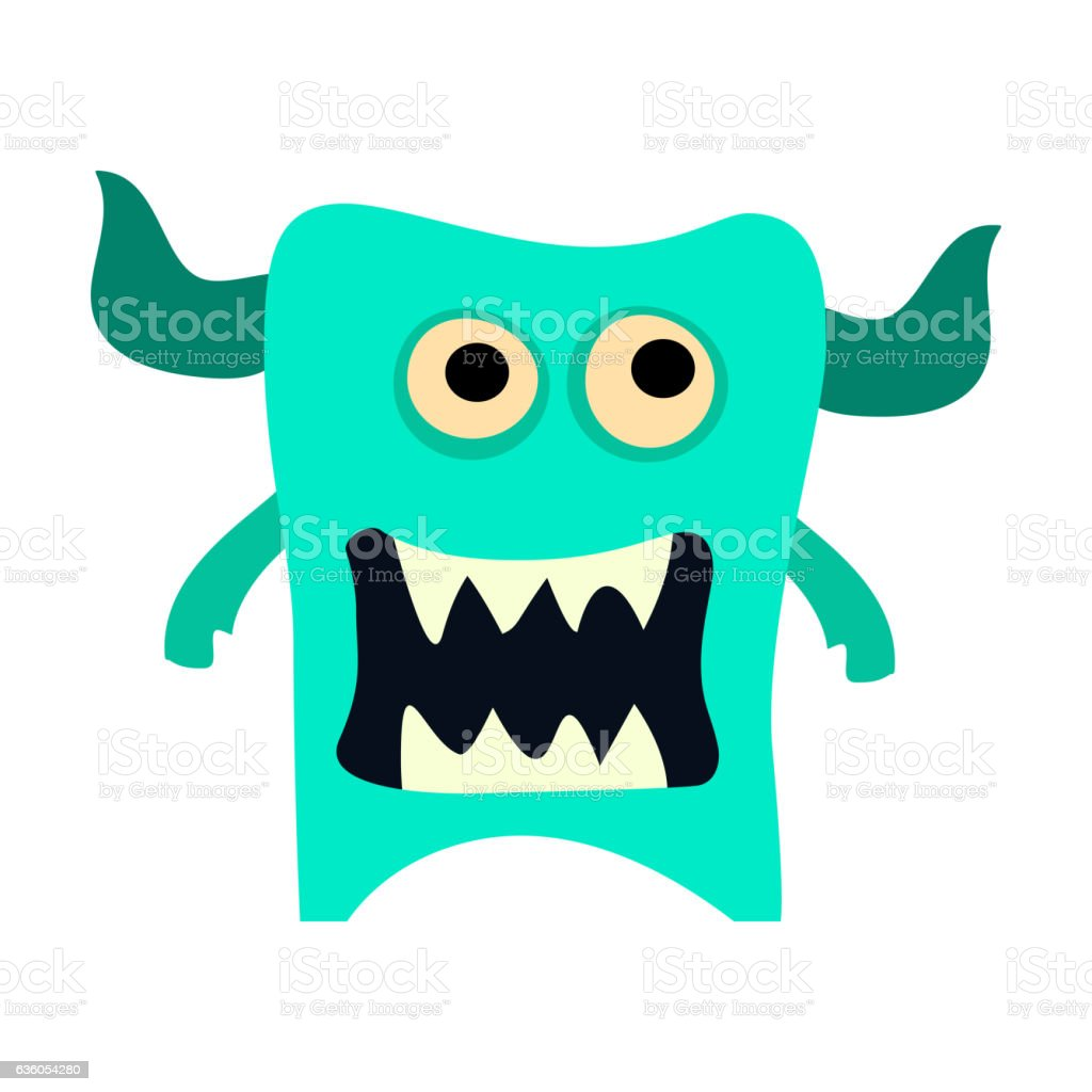 Cartoon monsters set. Colorful toy cute monster. Vector EPS 10 vector art illustration