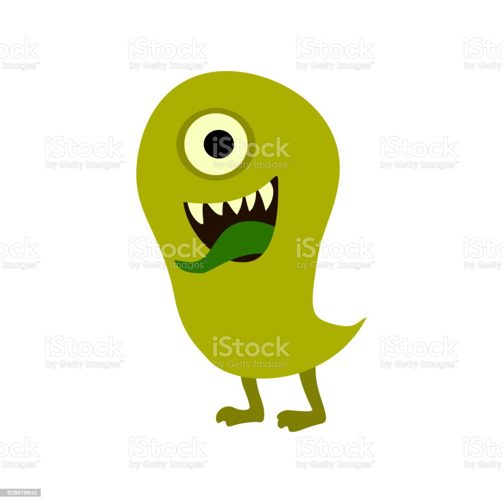 Cartoon monsters set. Colorful toy cute monster. vector art illustration